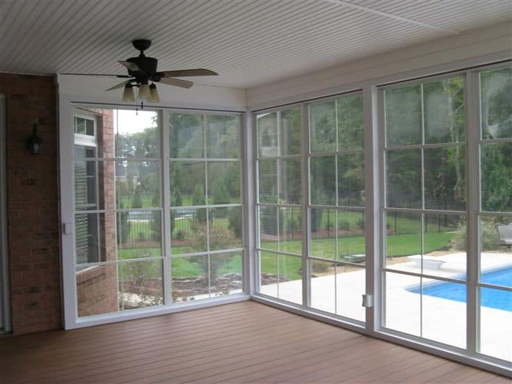 Vinyl 4 track sunroom systems sunroom addition sunroom for Acrylic windows cost