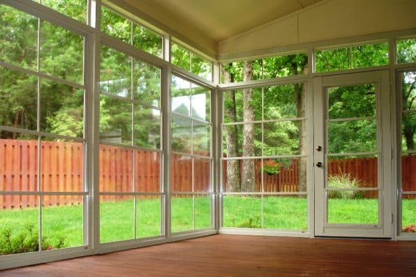 vinyl four track sunroom window